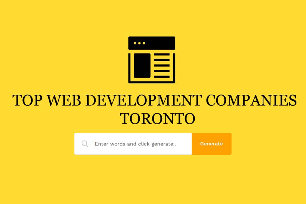 Website Development Company Toronto